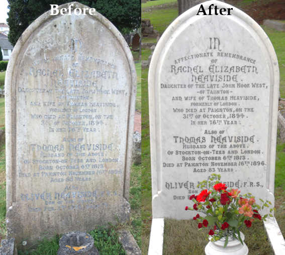 The Heaviside Memorial Project recently completed their restoration of the memorial Heaviside's